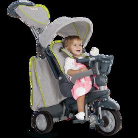 Explorer 5-in-1 Baby Dreirad - Grau