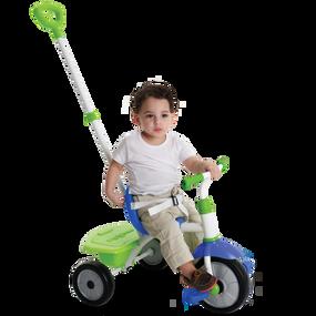 Fun 2-in-1 Baby Dreirad - Blau - Grün - Weiß