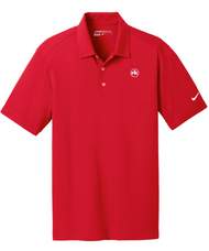 Nike Dri-FIT Vertical Mesh Polo in University Red