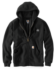 Carhartt Rain Defender Rutland Thermal Lined Hooded Zip- Front Sweatshirt in Black