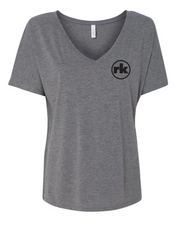 Bella & Canvas Womens Slouchy V-Neck Tee