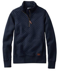 L.L.Bean® Quilted Quarter-Zip Pullover