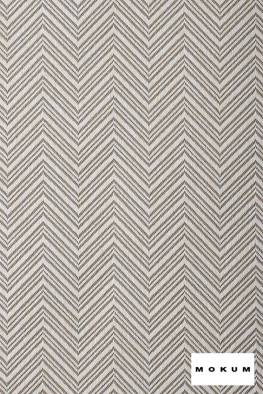 Mokum Madura - Shell  | Upholstery Fabric - Fire Retardant, White, Eclectic, Outdoor Use, Pattern, Synthetic, Tropical, Washable, Chevron, Zig Zag, Commercial Use, White