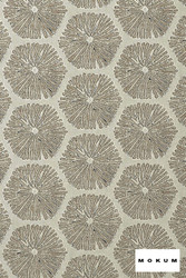 Mokum Sea Urchin - Linen  | Upholstery Fabric - Fire Retardant, Beach, Deco, Decorative, Eclectic, Foulard, Geometric, Honeycomb, Midcentury, Natural Fibre, Organic, Tropical
