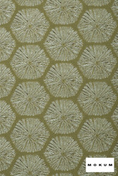 Mokum Sea Urchin - Palm Leaf  | Upholstery Fabric - Fire Retardant, Beach, Deco, Decorative, Eclectic, Foulard, Geometric, Honeycomb, Midcentury, Natural Fibre, Organic