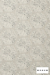 Mokum Sea Urchin - Seasalt  | Upholstery Fabric - Fire Retardant, White, Beach, Deco, Decorative, Eclectic, Foulard, Geometric, Honeycomb, Midcentury, Natural Fibre, White