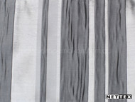 Nettex Eloquent Regal Platinum (MG16)  | Curtain Fabric - Grey, Silver, Deco, Decorative, Pattern, Stripe, Synthetic, Traditional, Domestic Use, Plisse, Standard Width