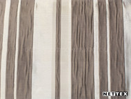 Nettex Eloquent Regal Walnut (MG16)  | Curtain Fabric - Brown, Silver, Deco, Decorative, Pattern, Stripe, Synthetic, Traditional, Domestic Use, Plisse, Standard Width