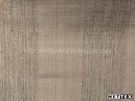 Nettex Wilton Sepia (MG6)  | Curtain Fabric - Brown, Plain, Silver, Stripe, Synthetic, Traditional, Transitional, Domestic Use, Standard Width