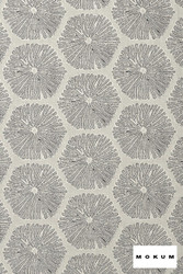 Mokum Sea Urchin - Silver  | Upholstery Fabric - Fire Retardant, Silver, Beach, Deco, Decorative, Eclectic, Foulard, Geometric, Honeycomb, Midcentury, Natural Fibre, Organic