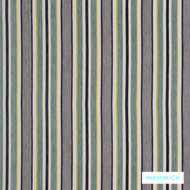 Warwick Abbotsford Allendale Ocean  | Upholstery Fabric - Grey, Stripe, Synthetic, Traditional, Washable, Domestic Use, Halo, Standard Width