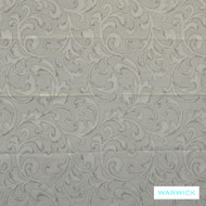 Warwick Antonia Pewter    Curtain Fabric - Grey, Damask, Fibre Blends, Traditional, Transitional, Washable, Domestic Use, Standard Width