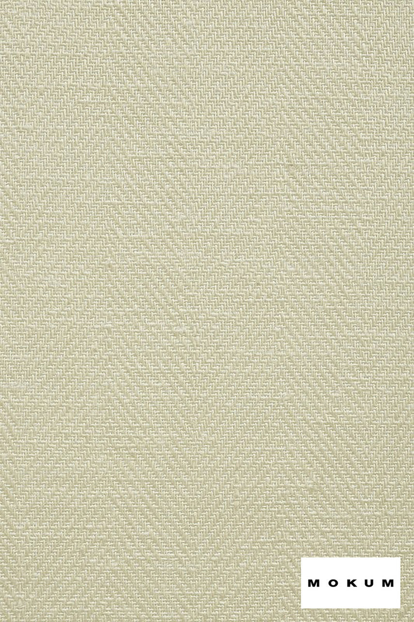 Mokum Trinidad - Bone  | Curtain & Upholstery fabric - Plain, White, Eclectic, Natural Fibre, Tropical, Washable, Domestic Use, Dry Clean, Herringbone, Natural, White