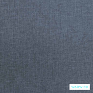 Warwick Astral Gyro Ink  | Upholstery Fabric - Blue, Plain, Synthetic, Washable, Commercial Use, Halo, Standard Width