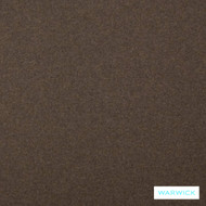 Warwick Augustus Fudge  | Curtain & Upholstery fabric - Brown, Plain, Fibre Blends, Washable, Commercial Use, Standard Width