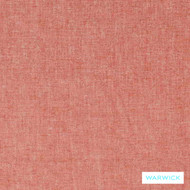 Warwick Aurora Coral  | Curtain & Upholstery fabric - Plain, Pink, Purple, Synthetic, Washable, Commercial Use, Standard Width