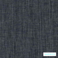 Warwick Blaze Navy  | Upholstery Fabric - Blue, Plain, Synthetic, Washable, Commercial Use, Halo, Standard Width
