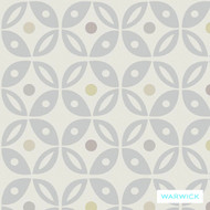 Warwick Cleveland Columbus (Pnm) Natural  | Curtain & Upholstery fabric - Grey, Circlelink, Contemporary, Diaper, Geometric, Midcentury, Synthetic, Washable, Commercial Use