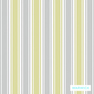 Warwick Cleveland Fullerton (Pnm) Custard  | Curtain & Upholstery fabric - Gold,  Yellow, Stripe, Synthetic, Traditional, Washable, Commercial Use, Halo, Standard Width