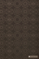 James Dunlop Jupiter - Chocolate  | Upholstery Fabric - Stain Repellent, Brown, Fire Retardant, Diaper, Fibre Blends, Geometric, Midcentury, Bacteria Resistant, Circles