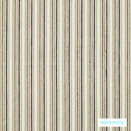 Warwick Hoxton Hackwell Nougat  | Upholstery Fabric - Eclectic, Fibre Blends, Midcentury, Small Scale, Stripe, Tan, Taupe, Traditional, Washable, Domestic Use, Natural