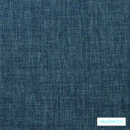Warwick Keylargo Ocean  | Upholstery Fabric - Blue, Plain, Synthetic, Washable, Commercial Use, Halo, Standard Width