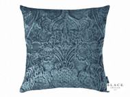 Black Edition - Erbusco 50cm Cushion Orion  | Cusion Fabric - Blue, Damask, Deco, Decorative, Traditional, Velvet/Faux Velvet, Decorative Weave, Domestic Use, Rococo