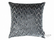 Black Edition - Rombo 50cm Cushion Storm  | Cusion Fabric - Metallic, Black - Charcoal, Eclectic, Geometric, Velvet/Faux Velvet, Domestic Use, Metal
