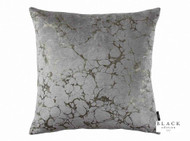 Black Edition - Marmori 50cm Cushion Zinc  | Cusion Fabric - Gold,  Yellow, Grey, Metallic, Contemporary, Velvet/Faux Velvet, Abstract, Domestic Use, Metal