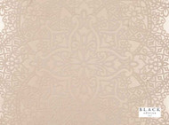 Black Edition - Byzantine Flock Wallcovering Shell  | Wallpaper, Wallcovering - Beige, Damask, Eclectic, Domestic Use, Flock