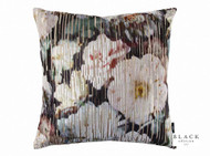 Black Edition - Herbaria Jacquard 50cm Cushion Malva  | Cushion Fabric - Pink, Purple, Contemporary, Floral, Garden, Botantical, Cushion, Dry Clean