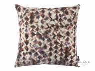 Black Edition - Kaleido 50cm Cushion Rosewood  | Cusion Fabric - Brown, Contemporary, Velvet/Faux Velvet, Abstract, Domestic Use, Print, Standard Width