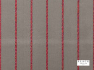 Black Edition - Itarsi Red Tulip  | Curtain & Upholstery fabric - Brown, Red, Contemporary, Natural Fibre, Stripe, Velvet/Faux Velvet, Domestic Use, Natural, Standard Width