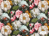 Black Edition - Herbaria Cinnabar  | Curtain & Upholstery fabric - Brown, Red, Contemporary, Fibre Blends, Floral, Garden, Multi-Coloured, Velvet/Faux Velvet, Domestic Use