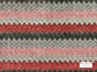 Black Edition - Zenith Cinnabar  | Curtain & Upholstery fabric - Orange, Red, Contemporary, Eclectic, Dry Clean, Geometric, Velvets, Herringbone