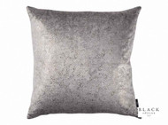 Black Edition - Susa 50cm Cushion Zirconium  | Cusion Fabric - Grey, Small Scale, Velvet/Faux Velvet, Domestic Use, Standard Width