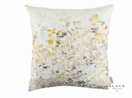 Black Edition - Breathe Cushion - Lichen  | Cusion Fabric - Gold,  Yellow, White, Contemporary, Pink, Purple, Velvet/Faux Velvet, Abstract, Domestic Use, Print, White