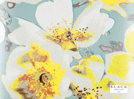 Black Edition - Eden Wallcovering Daffodil  | Wallpaper, Wallcovering - Blue, Gold,  Yellow, Contemporary, Floral, Garden, Turquoise, Teal, Domestic Use, Print, Watercolour