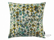 Black Edition - Kaleido 50cm Cushion Peacock  | Cusion Fabric - Contemporary, Velvet/Faux Velvet, Abstract, Domestic Use, Print, Standard Width