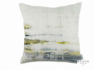 Black Edition - It's Complicated Cushion  | - Linen/Linen Look, Blue, Green, Contemporary, Cushion Cover, Dry Clean, Whites, Abstract, Print