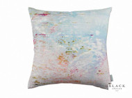 Black Edition - Big Smile Cushion  | - Blue, White, Contemporary, Linen and Linen Look, Pink, Purple, Abstract, Cushion-Covers, Domestic Use, Print, White, Standard Width