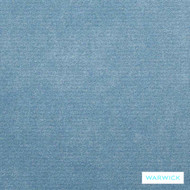Warwick Macrosoft Hg Lake  | Upholstery Fabric - Blue, Plain, HealthGuard, Synthetic, Washable, Commercial Use, Halo, Standard Width