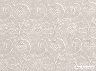 Mark Alexander - Amla Silverbirch    Curtain & Upholstery fabric - Grey, White, Linen and Linen Look, Natural Fibre, Traditional, Domestic Use, Natural, Print, White, Rococo