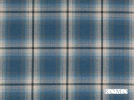 Romo - Dalton Cobalt  | Curtain & Upholstery fabric - Blue, Traditional, Dry Clean, Check, Decorative, Plaid, Fibre Blend, Standard Width
