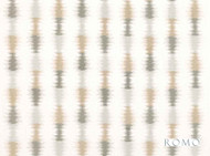 Romo - Misura Putty  | Curtain Fabric - Linen/Linen Look, Grey, Tan, Taupe, Contemporary, Ikat, Stripe, Dry Clean, Embroidery, Natural, Natural Fibre