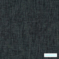 Warwick Matrix Steel  | Upholstery Fabric - Plain, Black - Charcoal, Synthetic, Washable, Commercial Use, Halo, Standard Width
