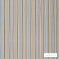 Warwick Mendoza Sevilla Turquoise  | Upholstery Fabric - Blue, Stripe, Synthetic, Traditional, Turquoise, Teal, Washable, Domestic Use, Halo, Standard Width