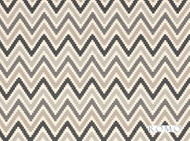 Romo - Scala Charcoal  | Curtain & Upholstery fabric - Grey, Black - Charcoal, Geometric, Natural Fibre, Southwestern, Washable, Chevron, Zig Zag, Domestic Use, Natural, Print