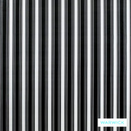 Warwick Monochrome Costello Platinum  | Upholstery Fabric - Grey, Black - Charcoal, Contemporary, Stripe, Synthetic, Traditional, Washable, Commercial Use, Halo, B&W
