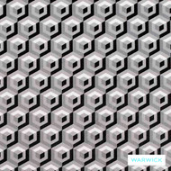 Warwick Monochrome Floyd Platinum  | Upholstery Fabric - Grey, Black - Charcoal, Contemporary, Geometric, Synthetic, Washable, Commercial Use, Halo, Standard Width
